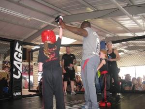Tess winning KB bout